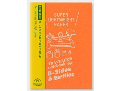Traveler's Company (Midori) B-Sides & Rarities Notebook Refill, Passport Size, Super Lightweight Paper