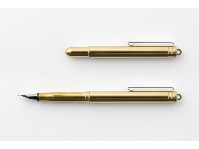 Traveler's Company (Midori) Brass Fountain Pen, Brass