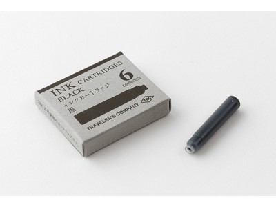 Traveler's Company (Midori) Brass Fountain Pen Ink Cartridges (Per Pack of 6)