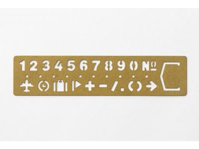 Traveler's Company (Midori) Brass Bookmark Stencil, Numbers