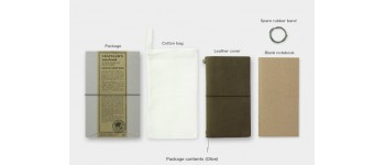 Traveler's Company (Midori) Notebook, Standard Size, Olive Limited Edition