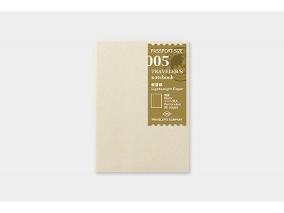 Traveler's Company (Midori) Notebook Refill, Passport Size, 005 Lightweight Paper