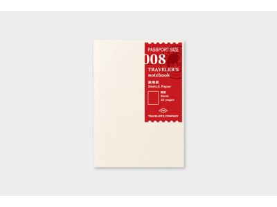 Traveler's Company (Midori) Notebook Refill, Passport Size, 008 Sketch Paper Notebook