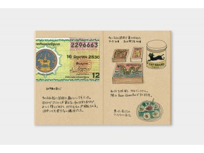 Traveler's Company (Midori) Notebook Refill, Passport Size, 009 Kraft Paper Notebook