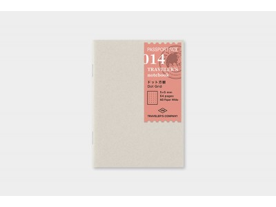 Traveler's Company (Midori) Notebook Refill, Passport Size, 014, Dot Grid