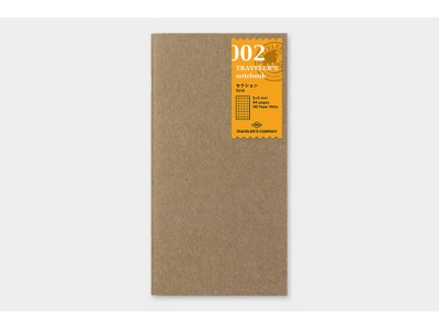 Traveler's Company (Midori) Notebook Refill, Standard Size, 002 Grid Notebook