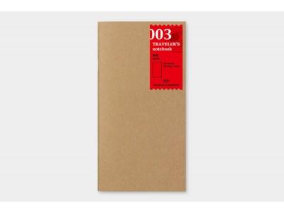 Traveler's Company (Midori) Notebook Refill, Standard Size, 003 Plain Notebook