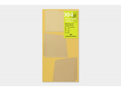 Traveler's Company (Midori) Notebook Refill, Standard Size, 004 Pocket Stickers