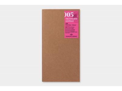 Traveler's Company (Midori) Notebook Refill, Standard Size, 005 Free Diary (Daily)