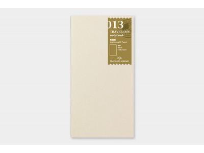 Traveler's Company (Midori) Notebook Refill, Standard Size, 013 Lightweight Paper