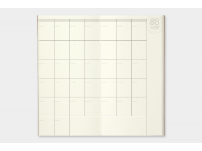 Traveler's Company (Midori) Notebook Refill, Standard Size, 017 Free Diary (Monthly)