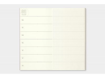 Traveler's Company (Midori) Notebook Refill, Standard Size, 019 Free Diary (Weekly) + Notes