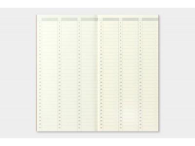 Traveler's Company (Midori) Notebook Refill, Standard Size, 018 Free Diary (Weekly)