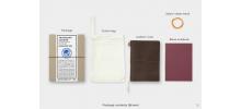 Traveler's Company (Midori) Notebook, Passport Size, Brown