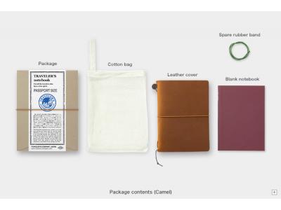 Traveler's Company (Midori) Notebook, Passport Size, Camel