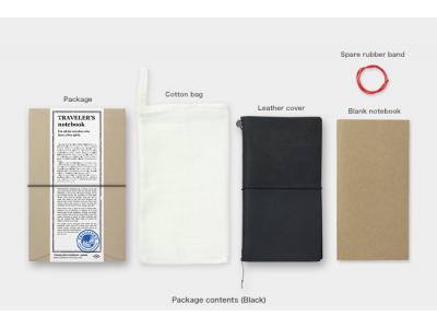 Traveler's Company (Midori) Notebook, Standard Size, Black