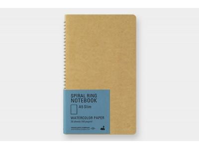 Traveler's Company (Midori) Spiral Ring Notebook, A5, Watercolour Paper