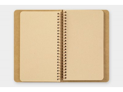 Traveler's Company (Midori) Spiral Ring Notebook, A6, DW Kraft Paper