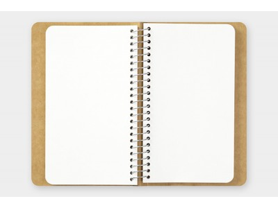 Traveler's Company (Midori) Spiral Ring Notebook, A6, Blank MD Paper, White