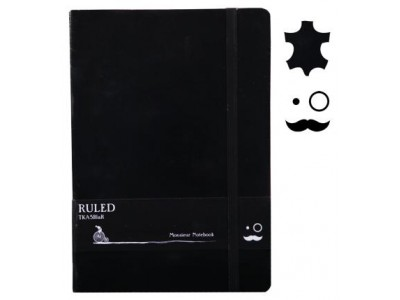 Monsieur Leather Notebook, A6 Size, Ruled
