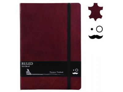 Monsieur Leather Notebook, A5 Size, Plain