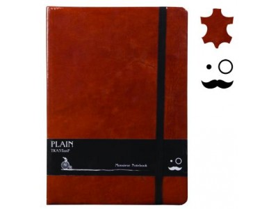 Monsieur Leather Notebook, A6 Size, Plain