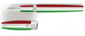 Montegrappa Fortuna Fountain Pen, Tricolore with Palladium Plated Trim