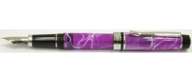 Monteverde Prima Fountain Pen, Purple/White Swirl