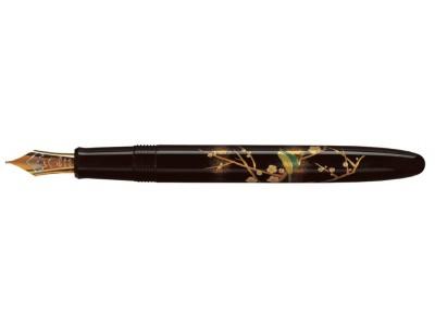 Namiki Yukari Fountain Pen, Apricot Tree and Bush Warbler
