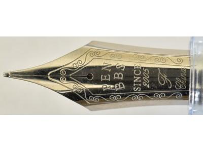 PenBBS No. 487 Magnet Fill Fountain Pen, Ice Blue