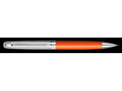 Caran d'Ache Leman Pencil, Bicolour Saffron Silver Plated/Rhodium Coated/Godron Guillichage