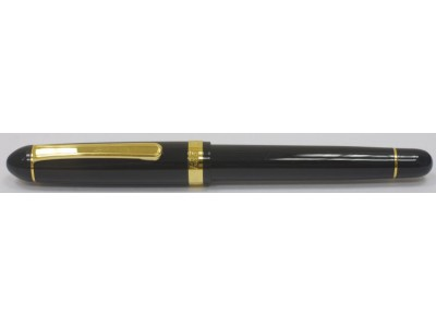 Platinum 3776 Century Music Fountain Pen, Black with Gold Plated Trim