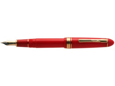 Platinum President Fountain Pen, Red with Gold Plated Trim