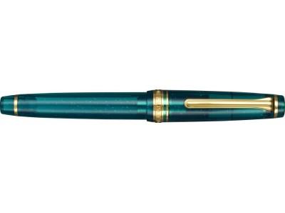 Sailor Professional Gear Slim (Sapporo) Fountain Pen, Blue Green Nebula Limited Edition