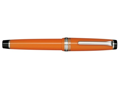 Sailor Professional Gear Fountain Pen, Orange with Silver Accents