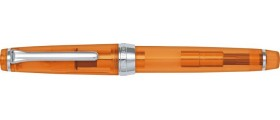 Sailor Professional Gear Slim (Sapporo) Fountain Pen, Orange Demonstrator with Silver Accents
