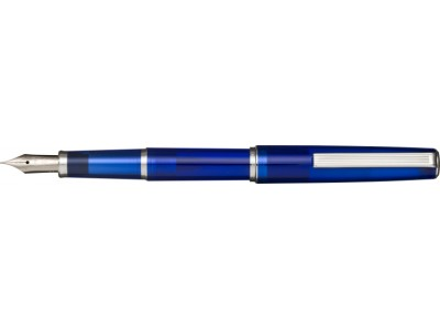 Sailor 1911 Young (Somiko) Fountain Pen, Clear Blue with Silver Accents