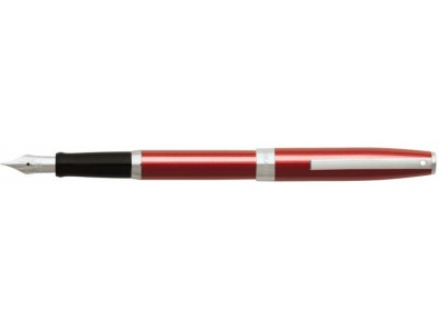 Sheaffer Sagaris 9479 Fountain Pen and Ballpoint Set, Metallic Red with Chrome Plate Trim