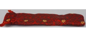 Varuna Silk Pen Pouch, Bright Red