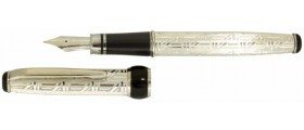 Via Roma Sterling Silver Fountain Pen, Aztec