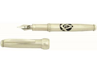 Via Roma Sterling Silver Fountain Pen, Masonic