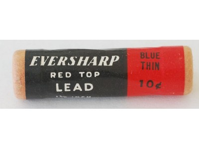 AC546 Eversharp Red Top Leads, 0.9mm, Blue, Per Pack of 10