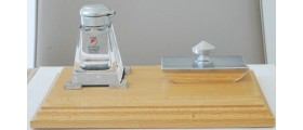 AC569 Wooden Desk Set with Crystal Inkwell and Rocker Blotter