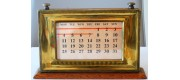 AC587 Brass and Oak Desk Perpetual Calendar