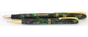 BU097 Burnham No. B59 Fountain Pen and Pencil Set, boxed. (Fine-to-Medium)