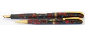 BU120 Burnham No. B59 Fountain Pen and Pencil Set. (Soft Medium)