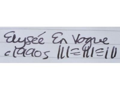 EL001 Elyseé en Vogue. (Broad)