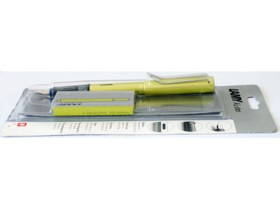 LM023 Lamy Al-Star Fountain Pen, Charged Green, boxed and sealed. (Medium)
