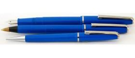 ME196 Platignum Silverline Fountain Pen, Ballpoint and Pencil Set, boxed.  (Medium)