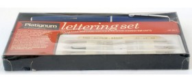 ME218 Platignum Silverline Lettering Set, boxed.